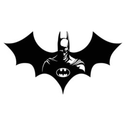Discount batman car window - 25.4*13.6CM cool Batman pattern vinyl decal car sticker CA-688