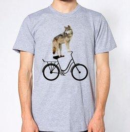$enCountryForm.capitalKeyWord NZ - Wolf Riding Bike New T-Shirt Bicycle Top jersey Print t-shirt