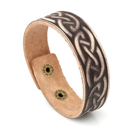 gold wristband men 2019 - 20 styles Creativity Design Leather pyrography Bracelets & Bangles for man Charm Handmade Wristband Jewelry Gift pksp4-5