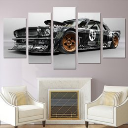 $enCountryForm.capitalKeyWord Australia - Modern Poster Home Decor unframed Wall Art Pictures For Living Room 5 Pieces Ford Mustang Rtr Car Painting Canvas HD Printed