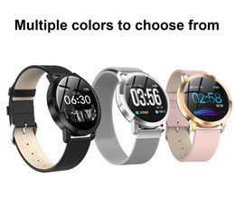Wholesale CF18 Smart Watch OLED Color Screen Smartwatch Fashion Fitness Tracker Heart Rate Blood Pressure Monitor For Men Women