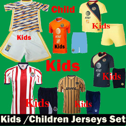 855b4e1b6c8 Thai Kids 2019 Mexico Liga Mx Chivas Guadalajara Club America Third Away  Soccer Jerseys Uniform Set 18 19 Child Tigres UANL Football Shirts