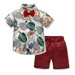 Clothing Sets Boys' Clothing Pudcoco 2019 Summer Kids Baby Boy Bow Tie Short Sleeve Top T-shirt Pants Shorts Ripped Beach Outfit Set Holiday