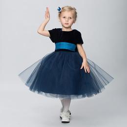 $enCountryForm.capitalKeyWord UK - Blue Flower Girl Dresses for Weddings Princess Little Girls Evening Gown Birthday Dress for Girls 2018