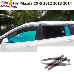 Visor Glasses Australia - car body cover detector Stick lamp plastic Window glass Wind Visor Rain Sun Guard Vent 4pcs for Mazda CX-5 CX5 2012 2013 2014