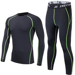 Boys Floral T Shirt Australia - Men Compression Underwear jogging Sports Suits Long Sleeves Tights T-shirt And Pants Gym Fitness Workout Clothing 2pcs Sets #319789