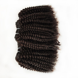 22inch hair weave Australia - attractive Afro curly 4c hair Natural Color 8-22inch 10pcs Brazilian Virgin human Hair extension Peruvian Malaysian Indian remy Hair Weave