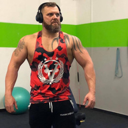 $enCountryForm.capitalKeyWord Australia - Gym Tank Top Canotta Bodybuilding Sleeveless Man Musculation Ropa Hombre Erkek Giyim Mens Clothing Singlet Men Clothes 2018 Vest C19040301