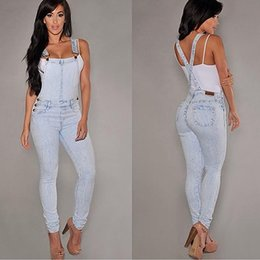 Fitted Denim Jumpsuit Australia - Women Sexy Slim Fit Baggy Loose Jeans Denim Overalls Pants Jumpsuit Rompers Y190429