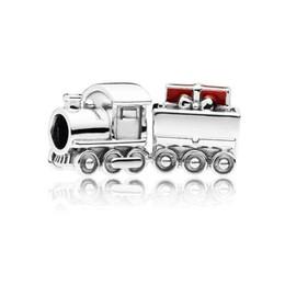 $enCountryForm.capitalKeyWord Australia - New Authentic 100% 925 Sterling Silver Christmas Train Charm, Red Enamel Beads Fit Original Pandora Charms Bracelet Diy Jewelry Accessories
