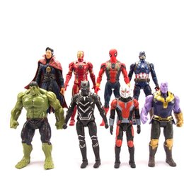 Avengers Infinity War Action Figures Captain Marvel Kids Toys LED 16cm New 2019