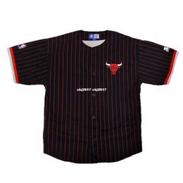 fcf38d0463 Sleeveless Jersey Baseball UK - Cheap Custom custom Vtg Rare Pinstripe  blank Starter Baseball Jersey Mens