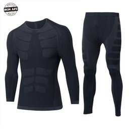 base layer thermals Australia - Motocycle Riding Thermal Underwear Sets for Men Winter Warm Quick Dry Tops and Pants Motocross Racing Base Layers Protection