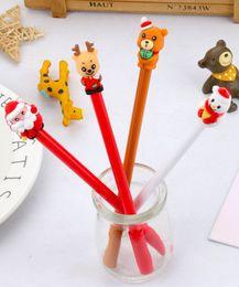 Bear Pens Australia - Best selling gel pens wholesale free shipping Creative Snowman Elk Bear Christmas Style Neutral Pen Student Pen423