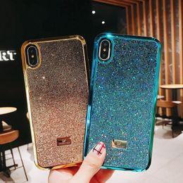 Discount cute iphone bumper cases - Bling Swarovski Glitter xr Phone case for Apple iPhone XS Max XR 8 7 6 Plus Unque Rhinestone Shiny Sparkle Hard Cover Cu