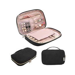 fabric folding box case 2019 - Portable Flannelette Jewelry Storage Bags Earrings Necklace Bracelet Circlet Organizer Pouch Case Box Package Accessorie
