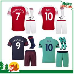e7a743ca7 2018 2019 Arsenal kids kit Soccer Jerseys 18 19 LACAZETTE MKHITARYAN XHAKA  RAMSEY WILSHERE AUBAMEYANG OZIL home men child Football shirts