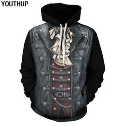 Wholesale cool 3d hoodie online – oversize YOUTHUP Male d Hoodies Cosplay Cool Hoodies D Full Print Hip Hop Skull Hooded Sweatshirts Men Pullovers Tops Streetwear New