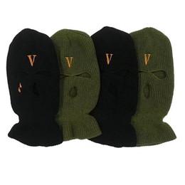 Großhandel 2019 Neuer Hip Hop VLONE POP STORE Guerilla Shop begrenzt Bandit-Köpfe zum Tragen von Wollmützen und Cold Caps Dual-Zweck-Banditmasken