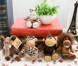 $enCountryForm.capitalKeyWord Australia - 5pcs lot 15cm Cute Stuffed Doll Jungle Brother Tiger Elephant Monkey Lion Giraffe Plush Animal Toy Best Gifts for Kids