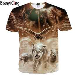$enCountryForm.capitalKeyWord Australia - 2019 Men's Summer New Personalized 3D Wolf T-Shirt Cool Comfortable Short Sleeve Top O-Nose DropShip