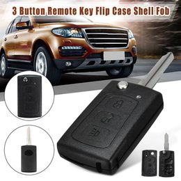 replacement cases for car remotes NZ - Automobiles & Motorcycles 3 Button Car Folding Remote Flip Key Case Shell Fob With Battery Holder Replacement For Great Wall HAVAL HOVER