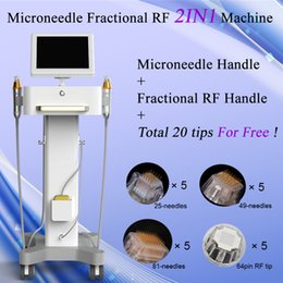 Brushing machines online shopping - Microneedle Skin Care Face Brush SPA Travel Case Anti Aging Wrinkle Removal Acne Scar Microneedle Fractional RF machine