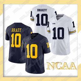 Football Jersey Brady NZ - NCAA Michigan Wolverines jerseys 10 Tom Brady 26 Saquon Barkley jersey 16 Trevor Lawrence jerseys 7 Kaepernick. Football Wear