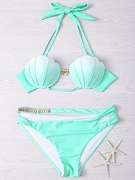 $enCountryForm.capitalKeyWord Australia - Hot Sale Summer Mermaid Bikini Western Style Women Bikinis Gradient Ramp Color Sexy Shell Swimsuit Low Waist Bathing Suit