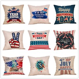 7a3705b0f2d4 American flag Stars Stripe Pillow Case Letter print Pillow Cover 45 45cm  Sofa Nap Cushion Covers Home Decoration 51 styles MMA1742