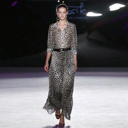$enCountryForm.capitalKeyWord NZ - Fashion 2019 Spring and Summer Women's Lapel Long-sleeved Leopard Mid-length Temperament Dress