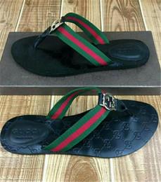Venta al por mayor de Venta al por mayor envío gratuito nuevos varones zapatos de playa de moda de verano zapatillas Flip Flops casual transpirable pisos zapatillas más tamaño