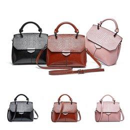 $enCountryForm.capitalKeyWord NZ - 3 colors Women Fashion crocodile pattern shoulder bag Ladies Hand-held oblique bag Messenger bag Purse designer handbags DHL JY378