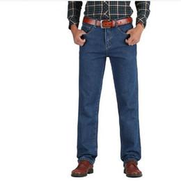 44 Pants Australia - 2018 Men Cotton Straight Classic Jeans Spring Autumn Male Denim Pants Overalls Designer Men Jeans High Quality Size 28-44