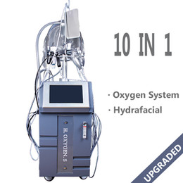 Facial Wrinkle Machines Australia - G882A Hyperbaric Pure Oxygen Therapy Facial Machine Bipolar Rf Bio Photon Wrinkle Removal Skin Tightening Oxygen Jet Equipment