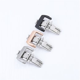 stainless steel deployment clasp buckle UK - luxury high quality Brushed Deployment Clasp Buckle for Richad Mile Band Strap 20mm