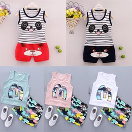 $enCountryForm.capitalKeyWord Australia - kids clothes 5 styles Girl cartoon letter sleeveless T-shirt + shorts 2pcs set children clothing kids designer clothes girls JY307
