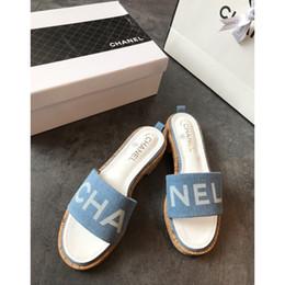 2019 zapatos de tacón alto para mujer zapatos planos y cómodas zapatillas de tacón alto sandalias veraniegas Vivo y cómodo El tacón total 225 en venta
