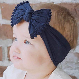 $enCountryForm.capitalKeyWord Australia - INS Baby Girls Headbands Bowknot hairband Kids Knotted Bow Elastic Cotton Head bands Children Infant Hair Accessories Headwear
