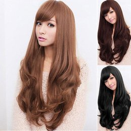 lolita wave wig NZ - Details about Women 65cm Long Curly Wavy Full Wig Heat Resistant Hair Cosplay Party Lolita