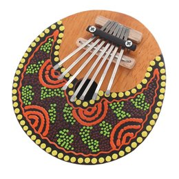 $enCountryForm.capitalKeyWord Canada - color send random Kalimba Thumb Piano 7 Keys Tunable Coconut Shell Painted Musical Instrument free shipping