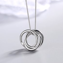 $enCountryForm.capitalKeyWord Australia - Fashion s925 sterling silver multi-round pendant necklace high quality ladies clavicle chain necklace jewelry gift 6-DH7125