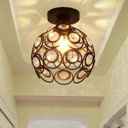$enCountryForm.capitalKeyWord Australia - led ceiling chandelier crystal lights North European country fashion creative luxury aisle balcony hallway corridor led crystal lamps