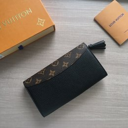 Handmade leatHer ladies wallets online shopping - 20SS Handmade Women Clutch Wallet Genuine Leather Wallet High Quality Brand Design Fashion Ladies Business Purse