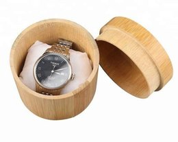 $enCountryForm.capitalKeyWord Australia - Natural Bamboo Box For Watches Jewelry Wooden Box Men Wristwatch Holder Collection Display Storage Case Gift