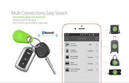 Perseguidor elegante del perro casero de la llave de la cartera de la alarma de la etiqueta del localizador de GPS del trazador de Bluetooth