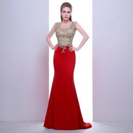 49d17662 2018 New noble robes dubai collar decals sexy red chiffon mermaid dress  transparent back women love beautiful dress Evening Gown 374