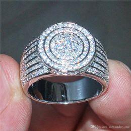 $enCountryForm.capitalKeyWord Australia - Size 5-10 Luxury 925 Sterling Silver Pave setting 365PCS CZ Diamond Gemstone RINGS FINGER JEWELRY Cocktail Wedding Rings for Women Men gift