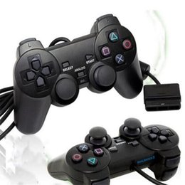 ps2 controller usb 2020 - Hot selling Wired Controller For PS2 Double Vibration Joystick Gamepad Game Controller For Playstation 2 M-JYP