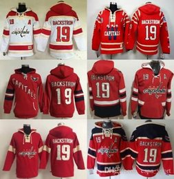 Cheap Gears NZ - 2017-Cheap-Mens Womens kids Washington Capitals Gear Nicklas Backstrom 19 Red White color sweatshirt Hoodies winter Jerseys-Free shipping.